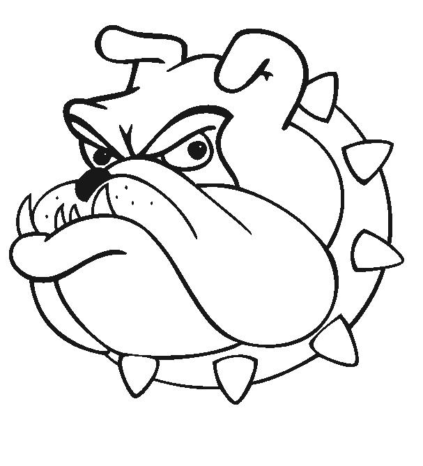 Bulldog Mascot Clipart Cartoon Pictures Image