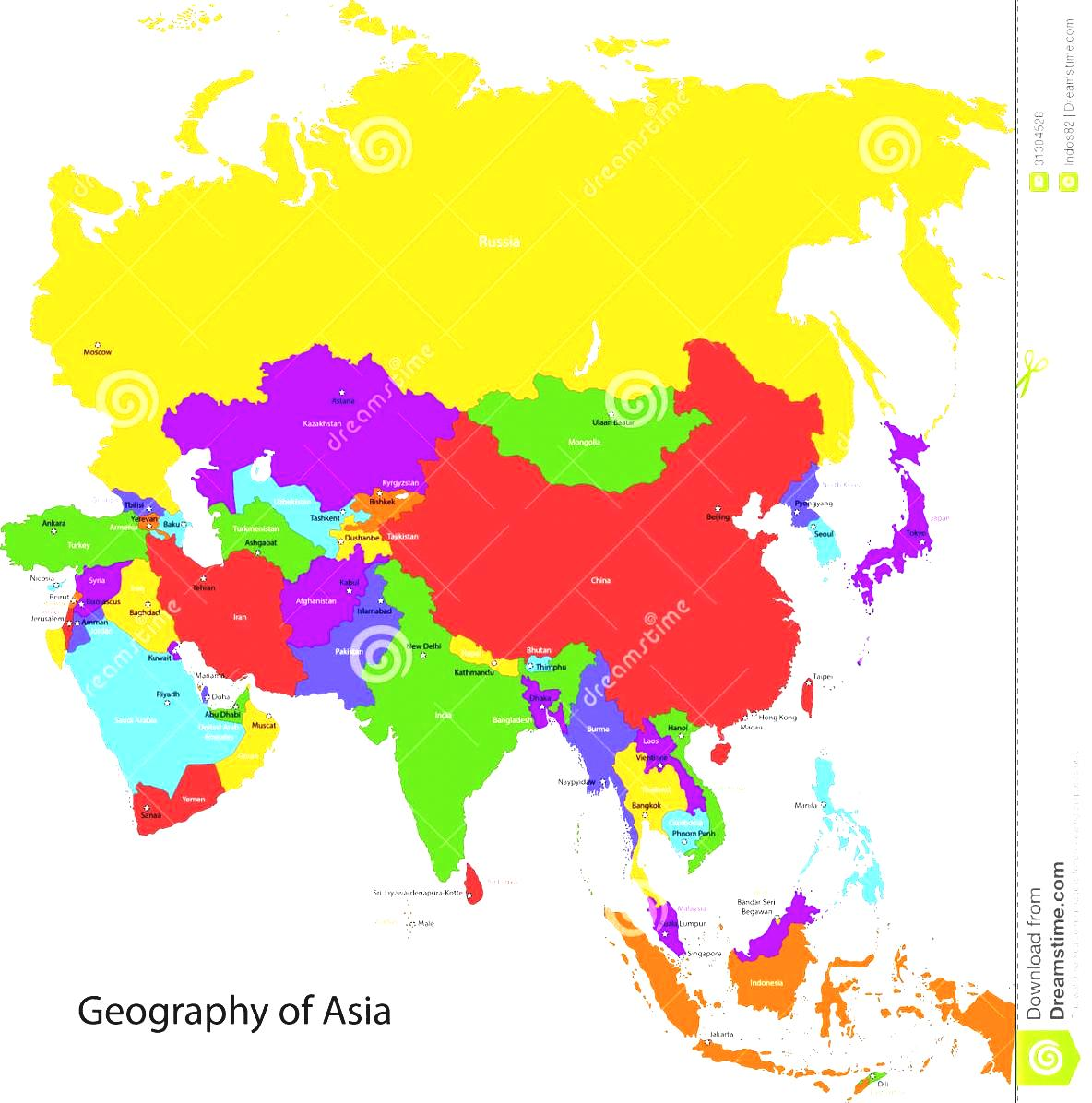 East Asia Map Labeled ClipArt Best