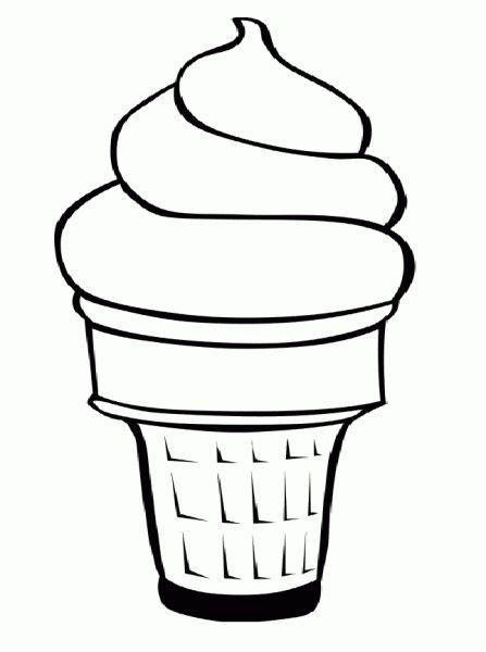 Line Art Ice Cream : Ice cream line drawing sunday clipart best