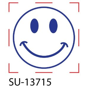 Shiny SU-13715 Happy Face Round Stock Stamp, Blue ...: www.clipartbest.com/blue-happy-face