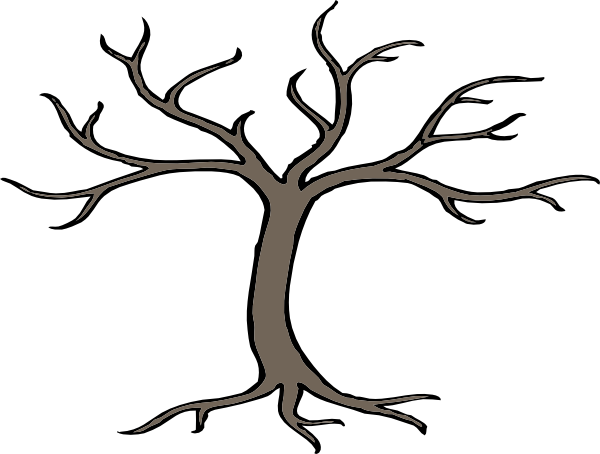 Outline Of Tree With Branches ClipArt Best