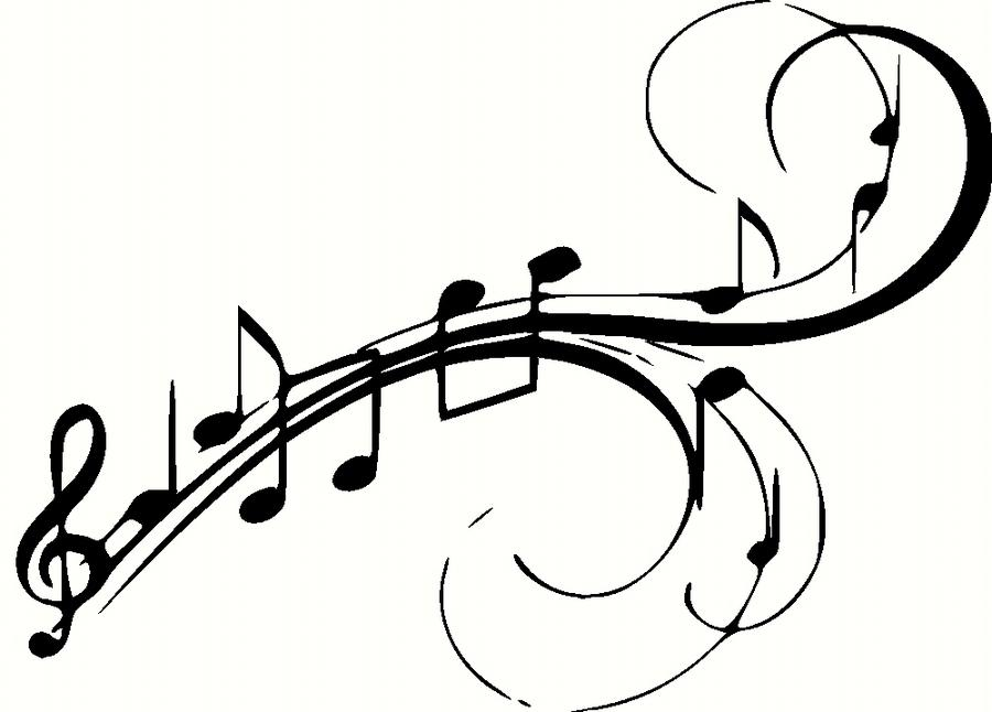 Line Art Notes : Musical notes vinyl wall decal graphic art clipart