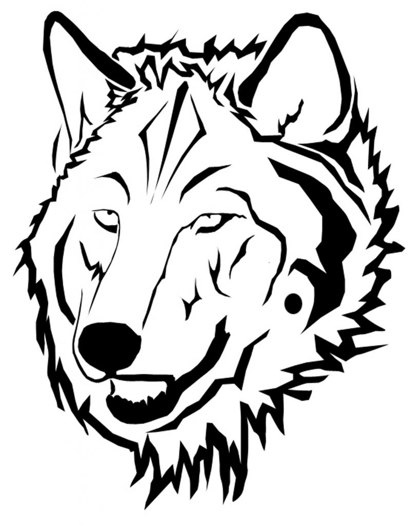 Line Drawing Wolf Face : How to draw a angry wolf face clipart best
