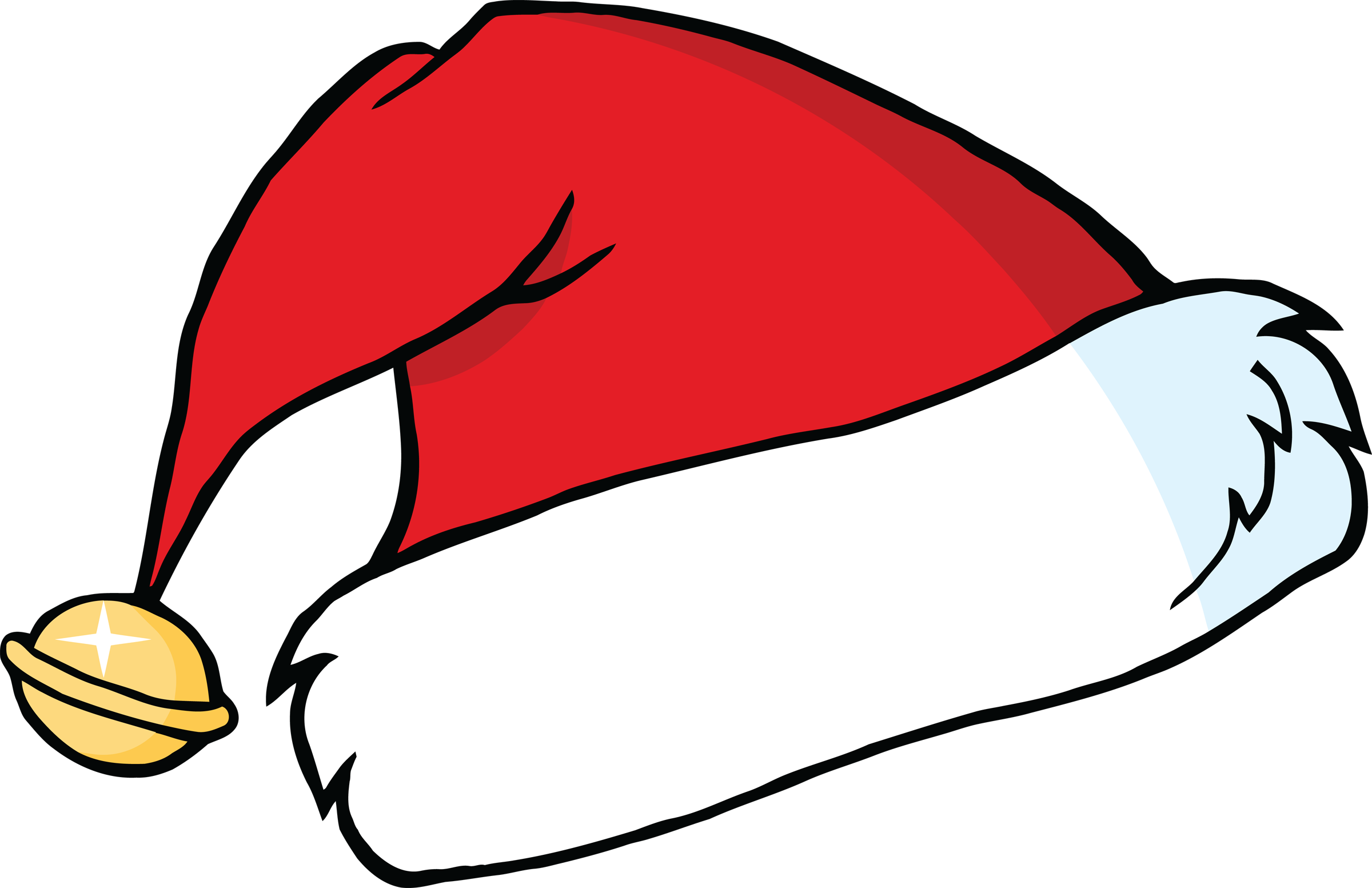 santa hat clipart with transparent background - photo #46