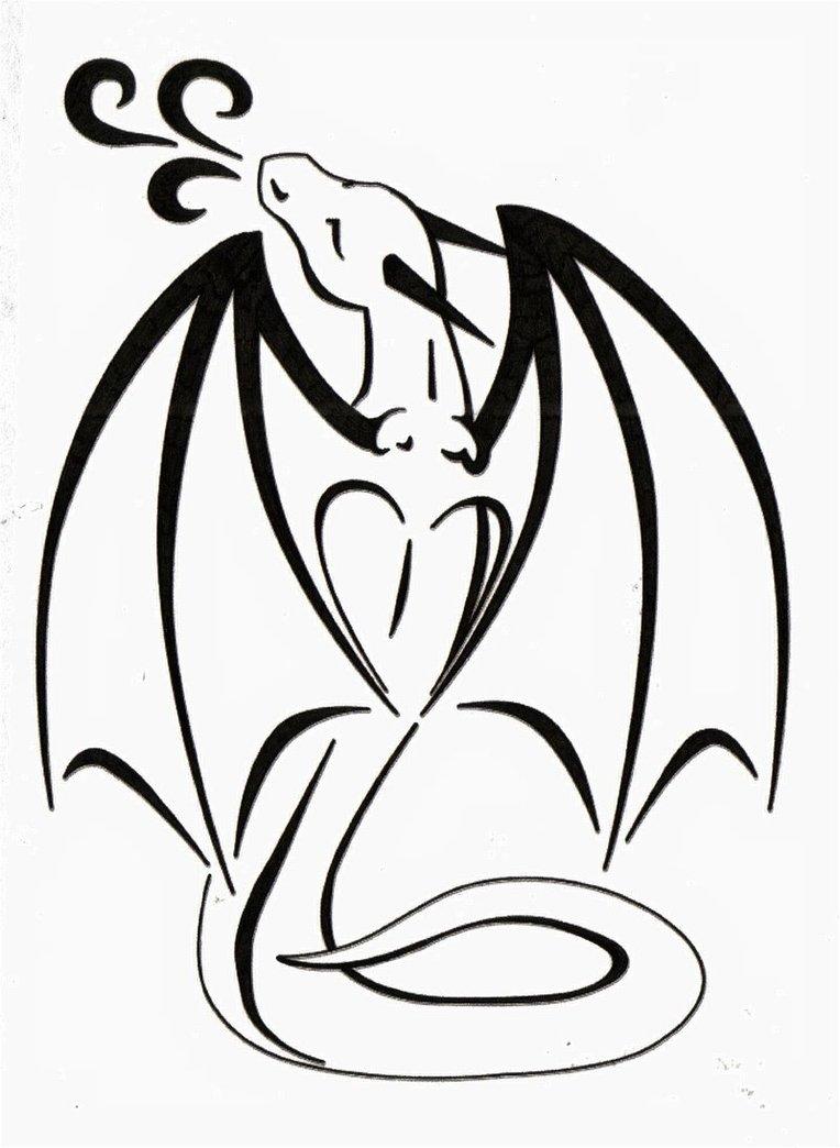 Simple Heart Line Art : Dragon love tattoo clipart best