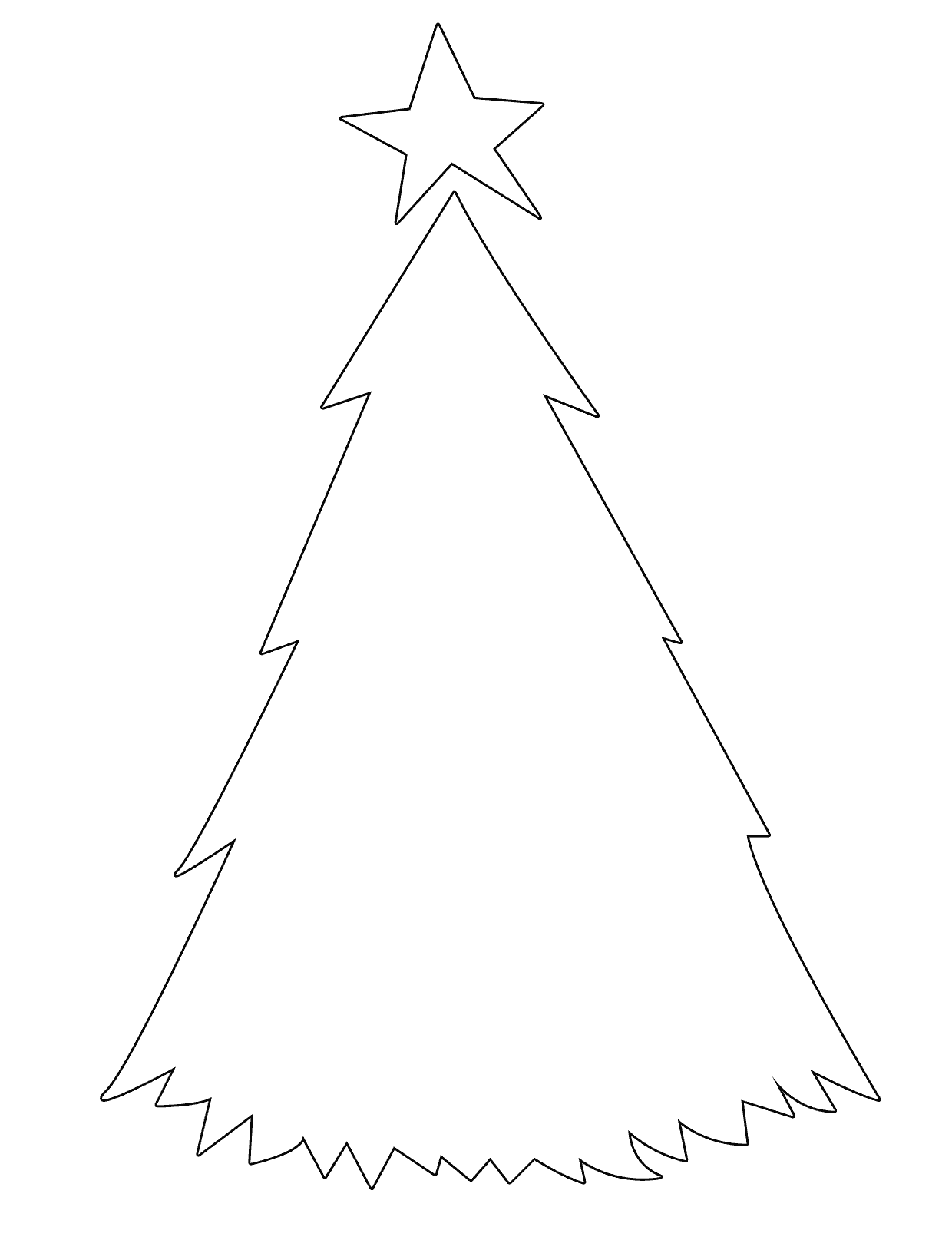 Line Drawing Christmas Tree : Christmas tree line drawing clipart best