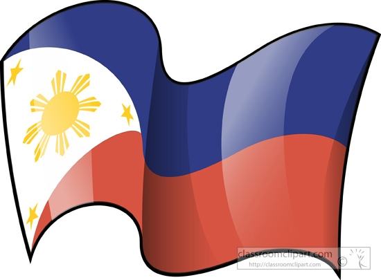 Philippines flag globe clipart