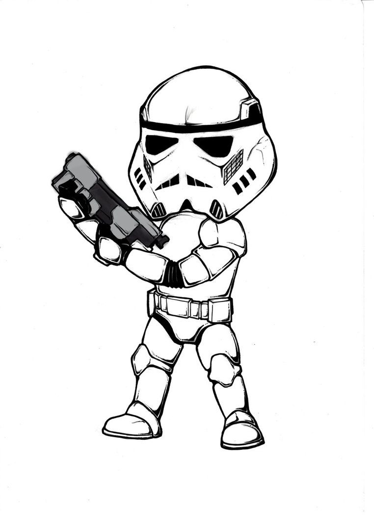 Stormtrooper Coloring Pages Clipart Best
