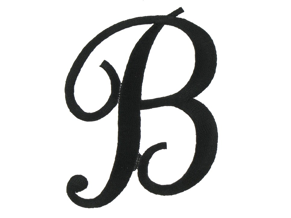 letter b clipart free calligraphy