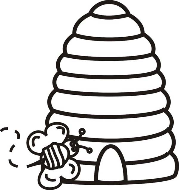 bee hive coloring pages - photo#27