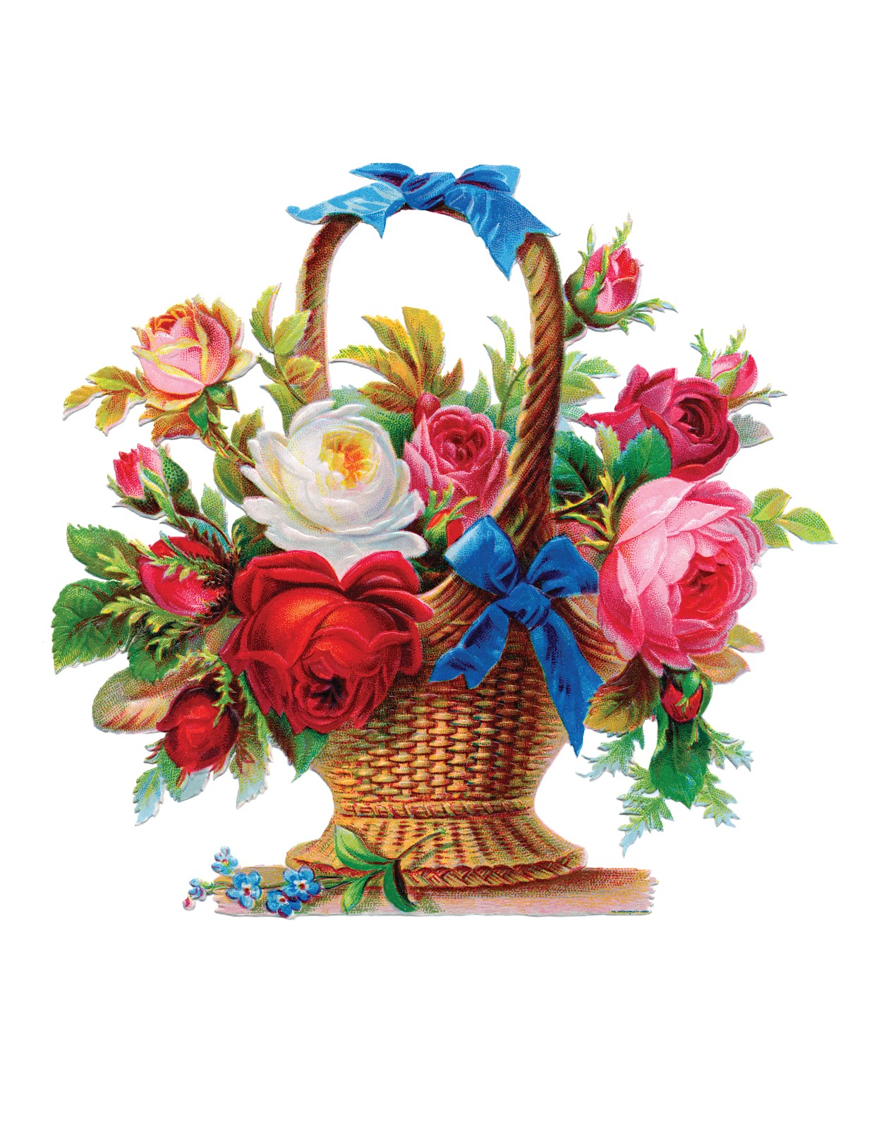 Basket Of Flowers Clip Art - ClipArt Best