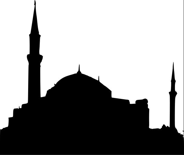 Gambar Masjid Siluet