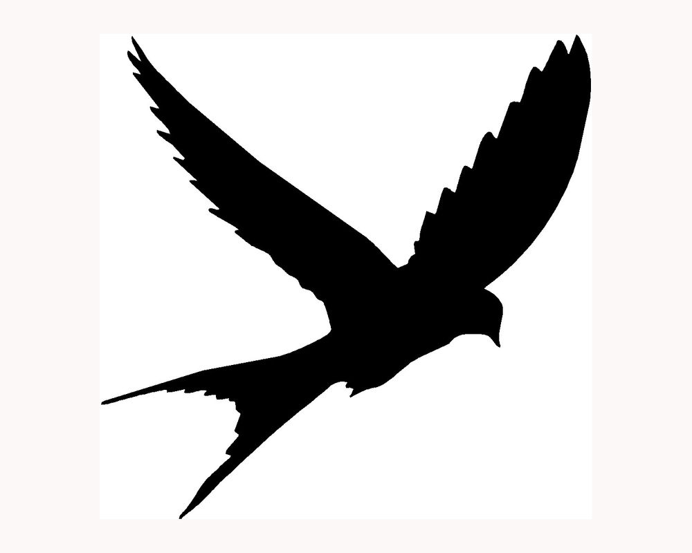 Birds Flying Silhouette Tattoo - ClipArt Best