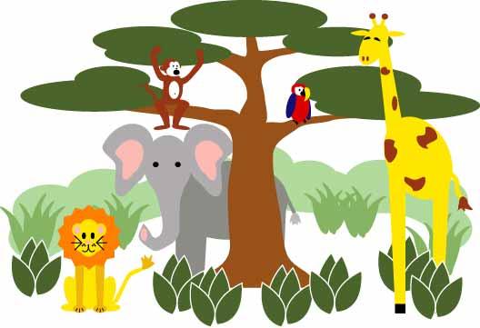 clipart of jungle animals - photo #22