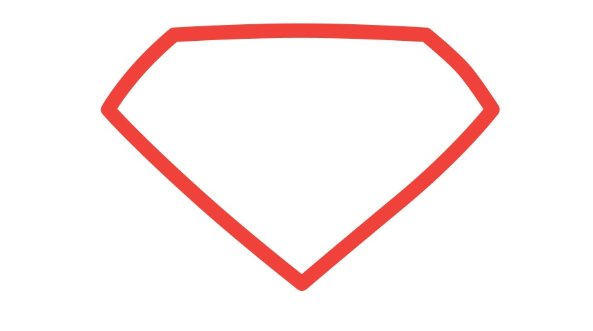 superman logo outline clipart best