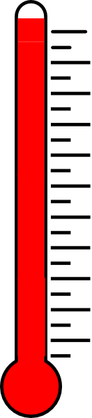 Blank Fundraising Thermometer Lr Clip Art Vector Online on ...