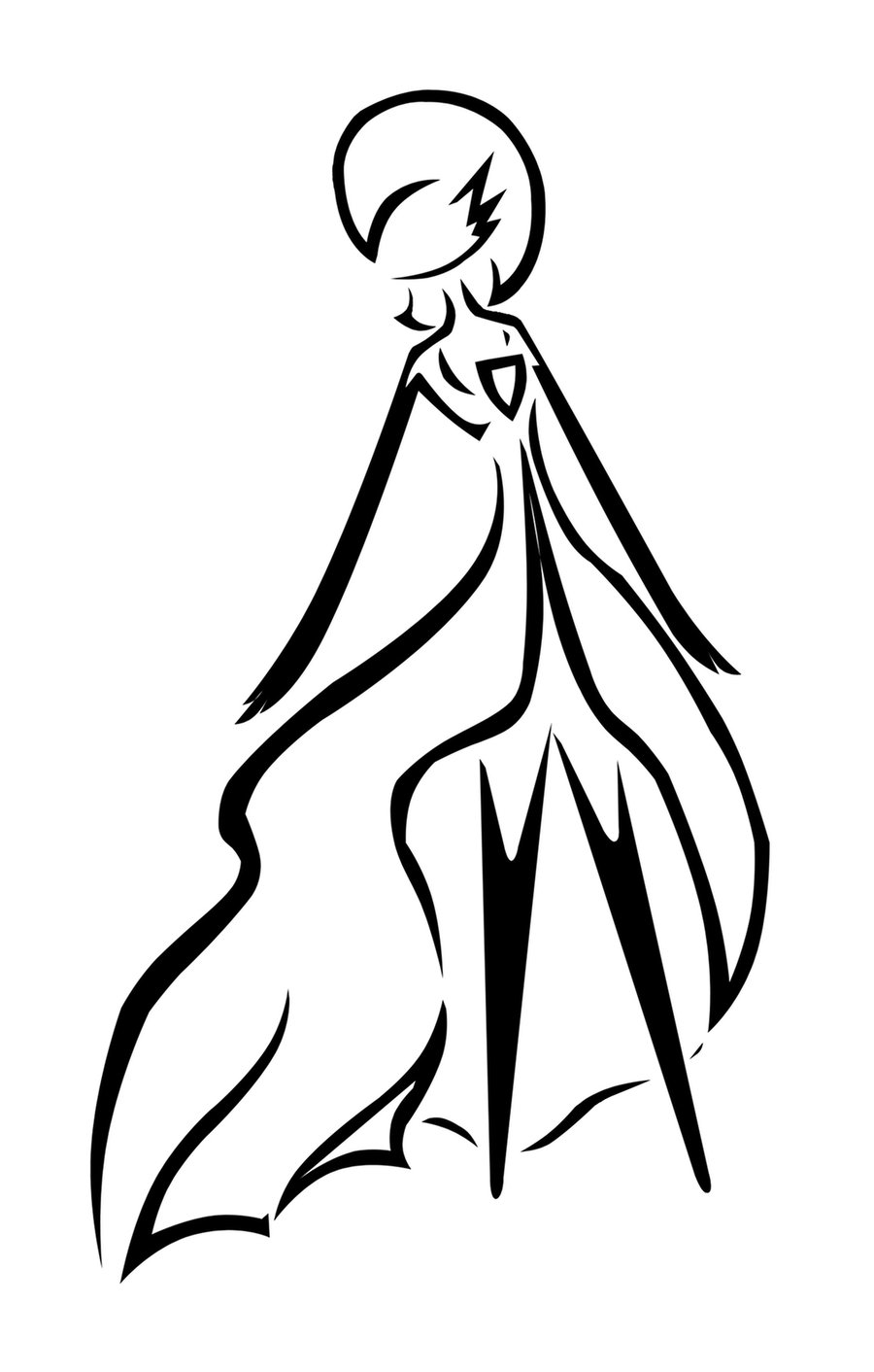 Line Drawing Angel : Angel line drawing clipart best