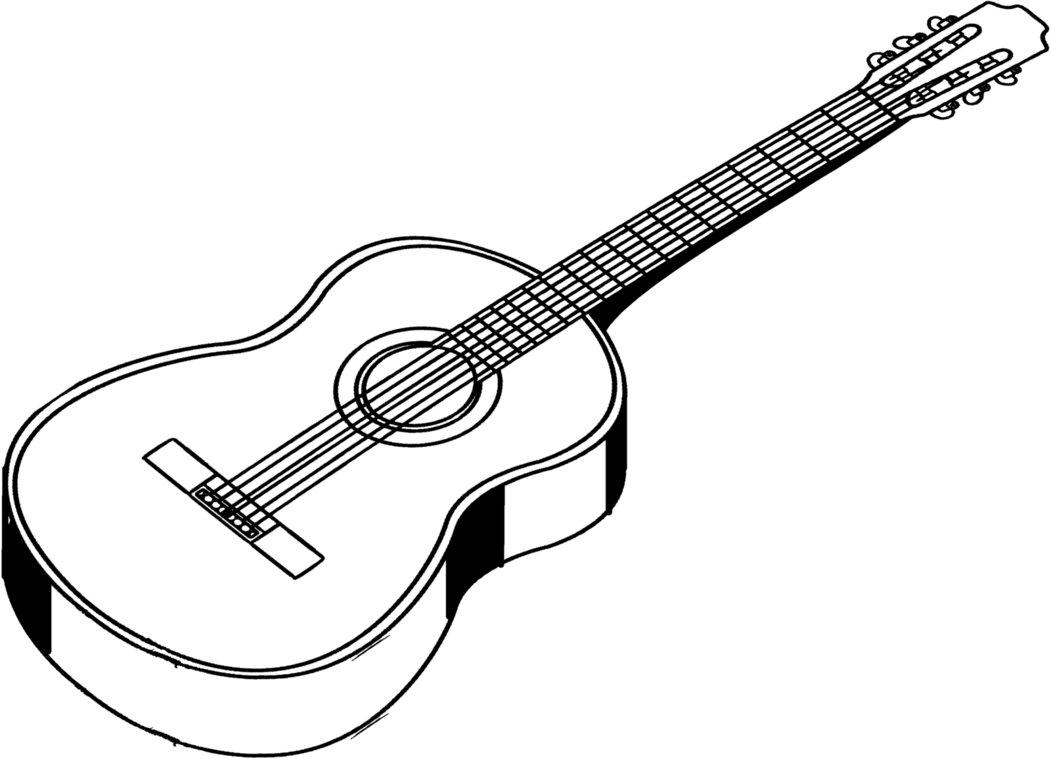 Line Art Guitar : Guitar line drawing clipart best