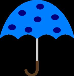 Polka Dot Umbrella clip art - vector clip art online, royalty free ...