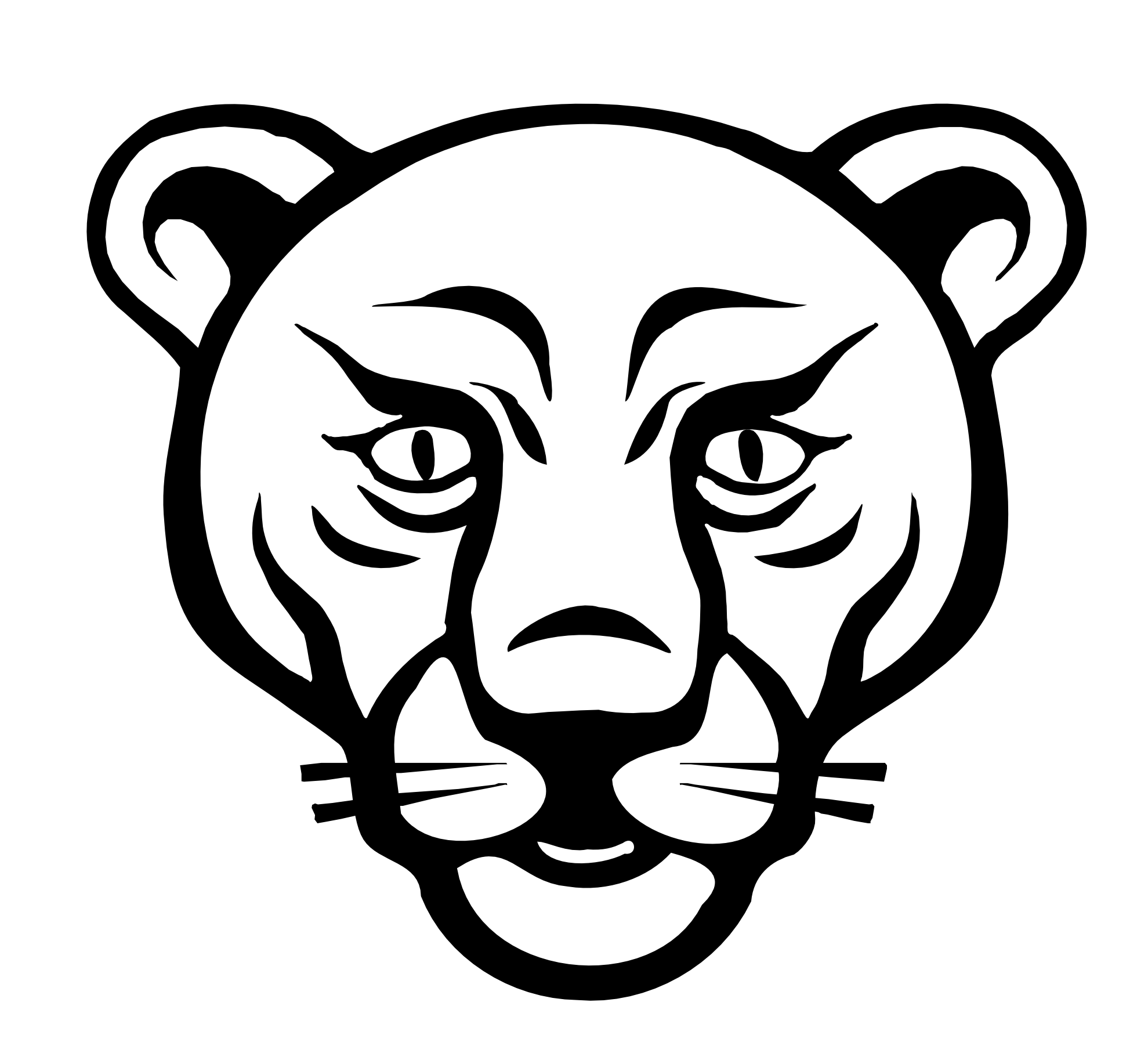 Line Art Face : Lion line art clipart best