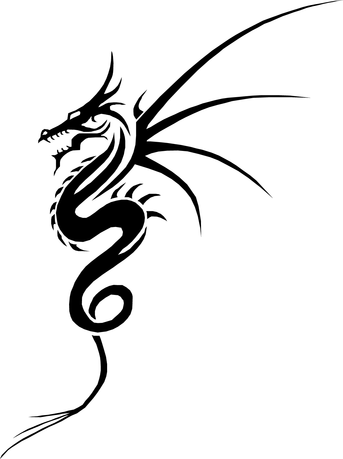 Тату дракон на руку эскизы