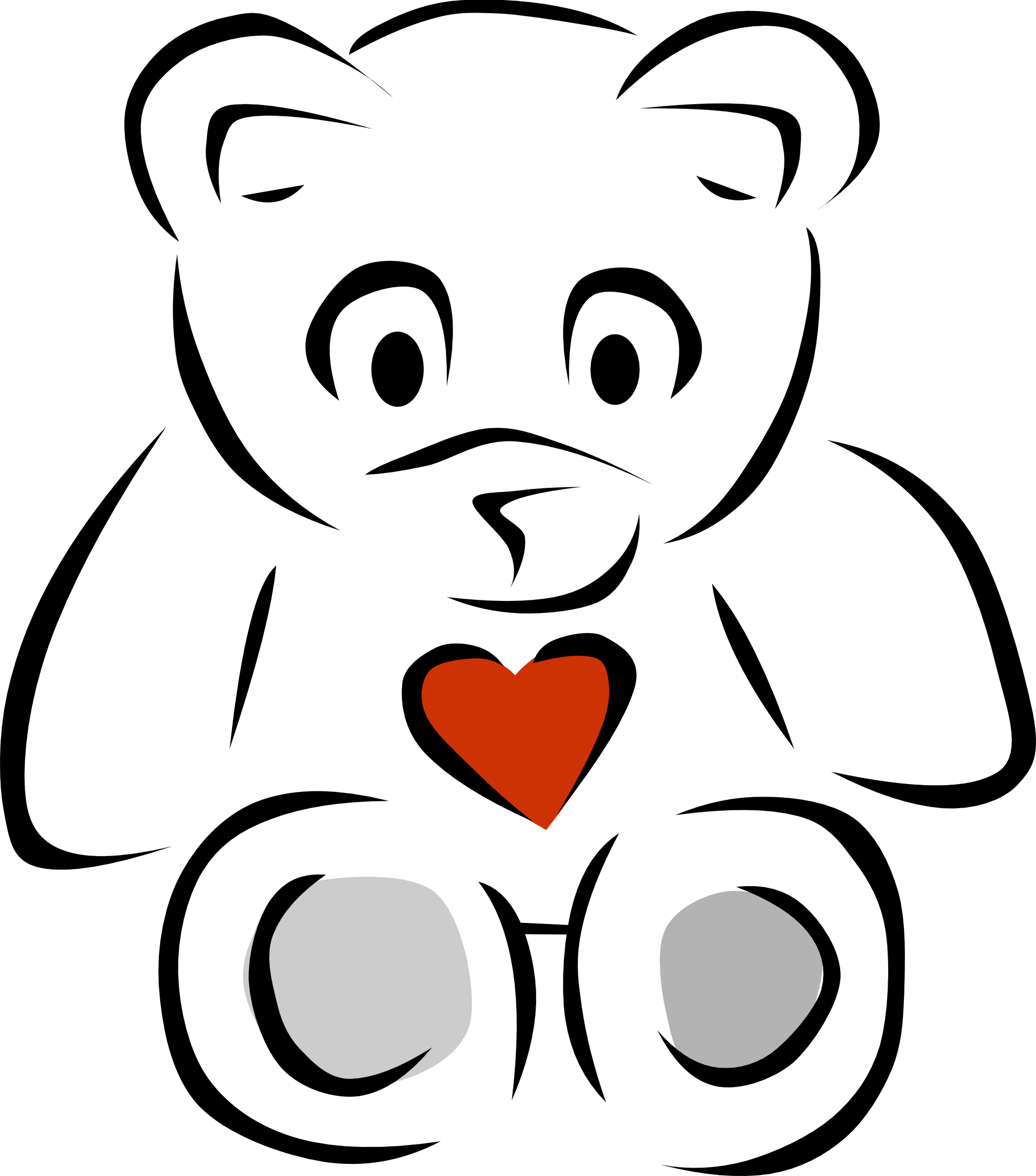 Teddy bear clipart heart