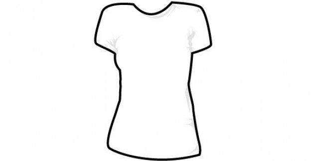 Round neck women's t shirt template | Download free Vector - ClipArt ...