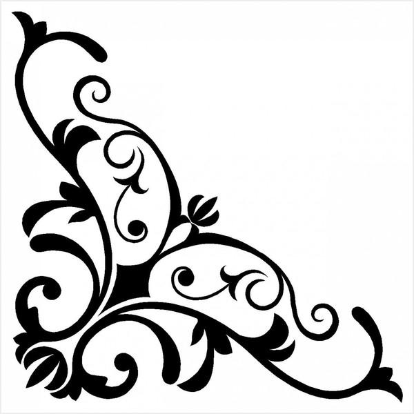 damask corner border clipart best fancy scrollwork clipart decorative scrollwork clipart