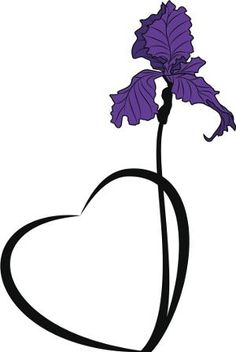 Black And White Iris Flower Tattoo Designs - ClipArt Best