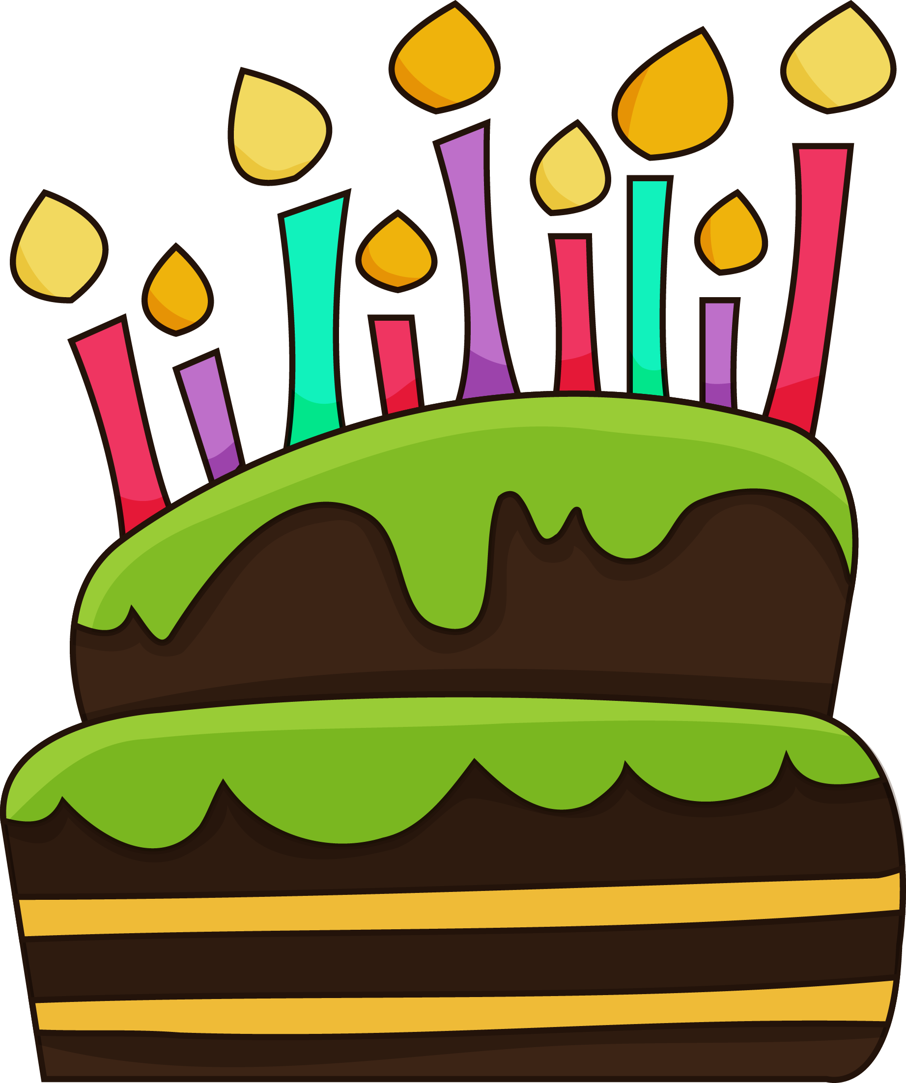 Drawings For Birthday CAkes - ClipArt Best