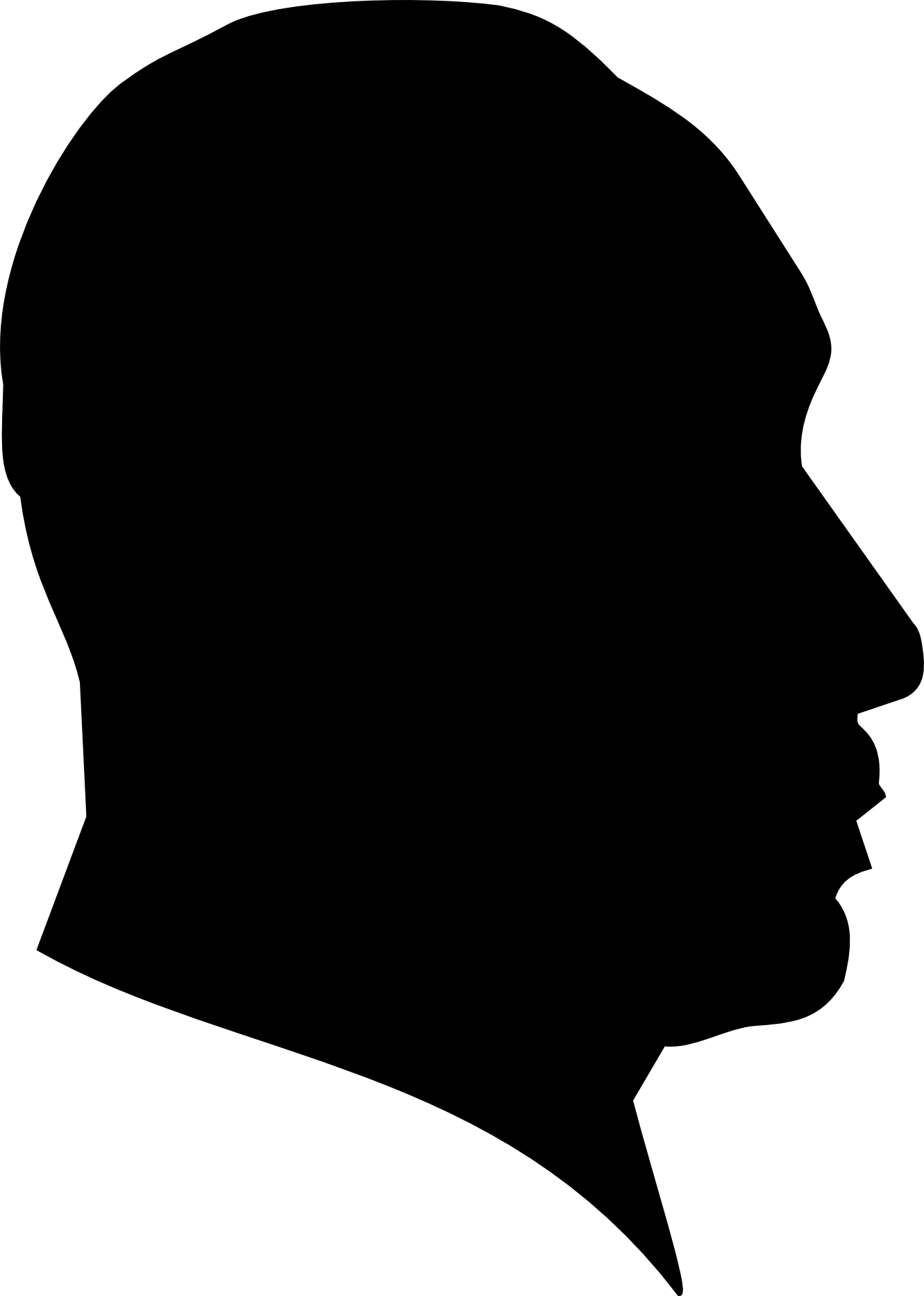 Face profile Illustrations and Clipart 45391 Face