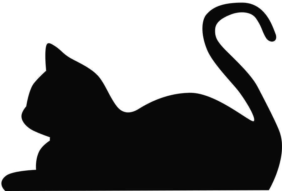 Cat Silhouette Pattern - ClipArt Best