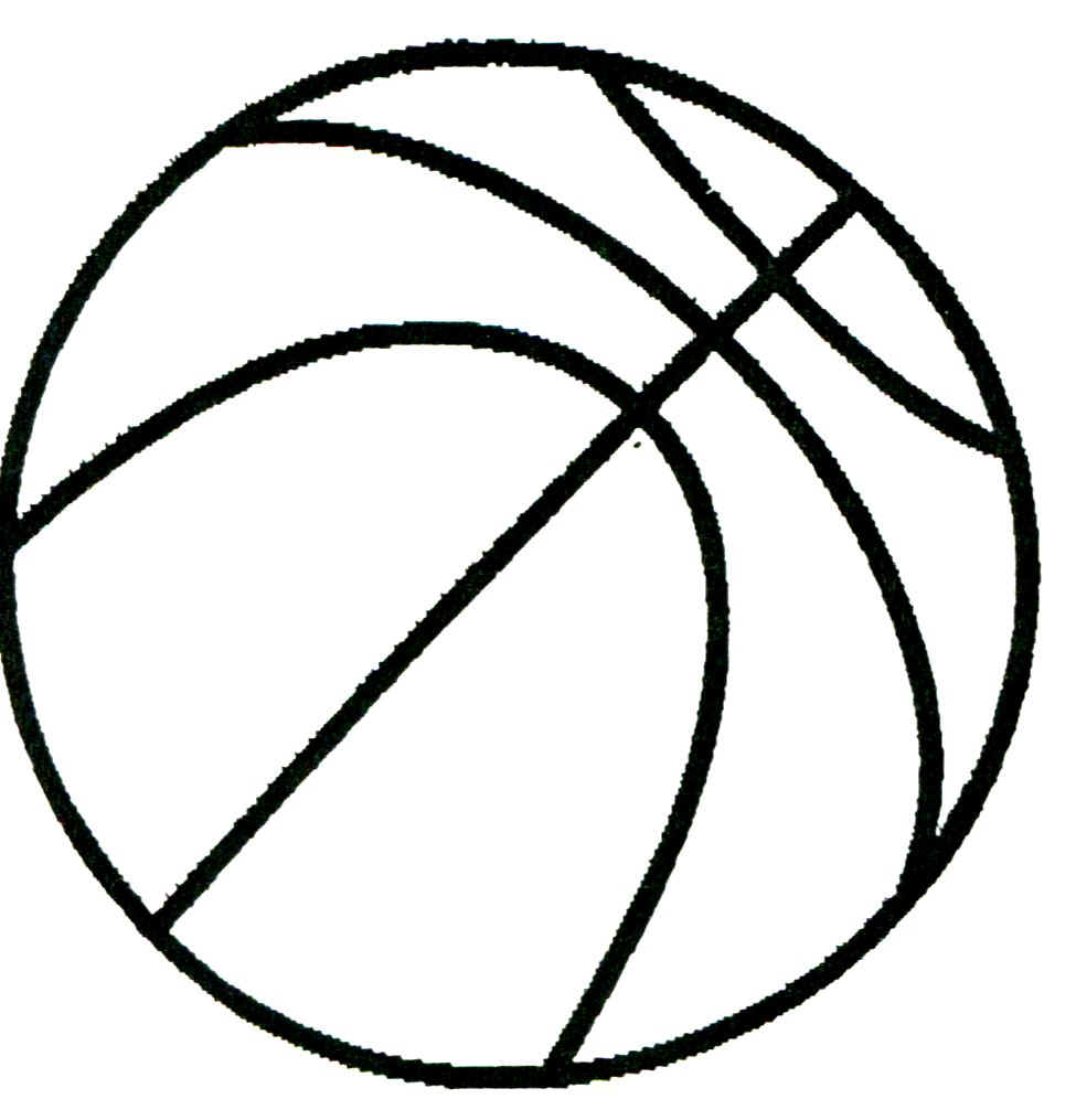 Line Art Clipart : Basketball line drawing clipart best