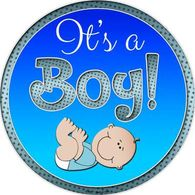 "12"" Metal It's a Boy Sign - Teal"