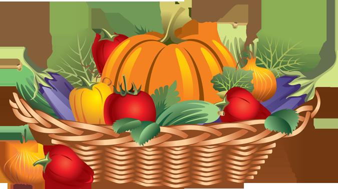 Basket Of Vegetables Clipart : Fall harvest clip art clipart best