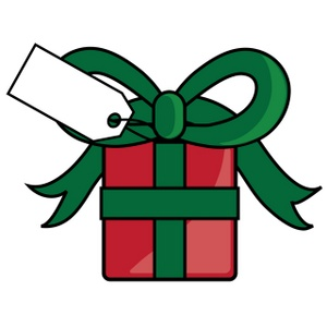 Christmas Present Clipart Image - Christmas Present with a Tag ...