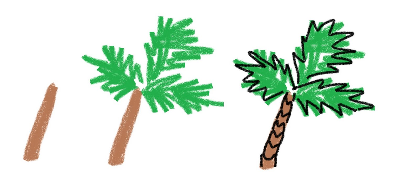 Palm Tree on The Beach Drawing Palm Tree Beach Drawing