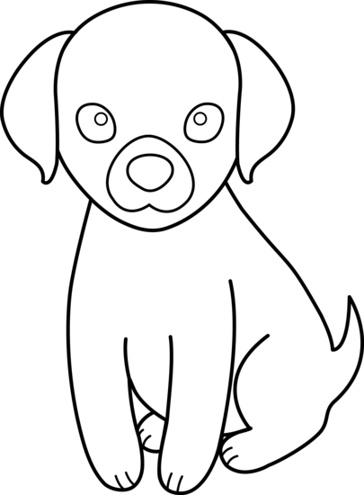 Line Drawing Of A Dog : Line drawing dog clipart best