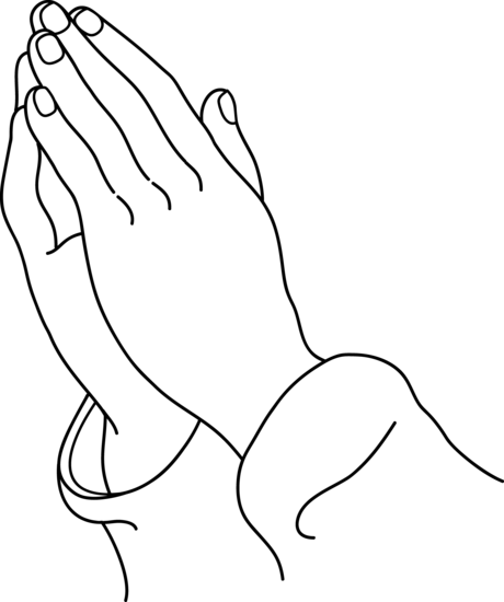 how to draw two hands praying