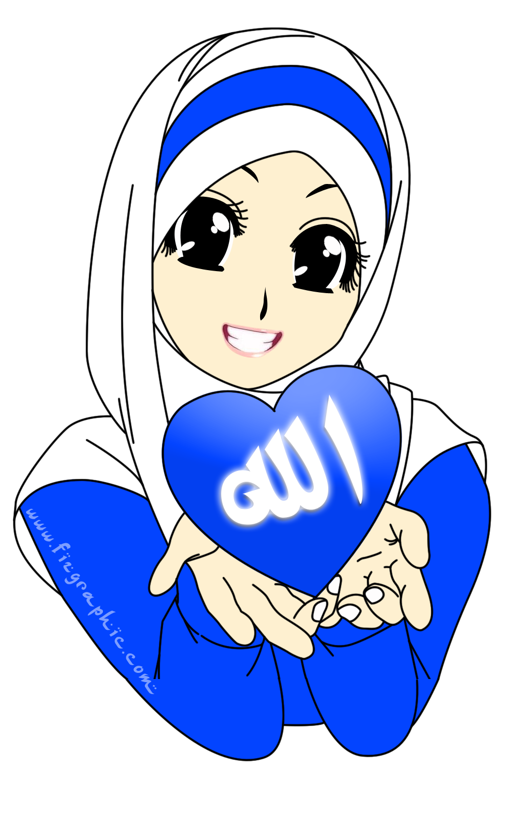 Muslimah cute cartoon