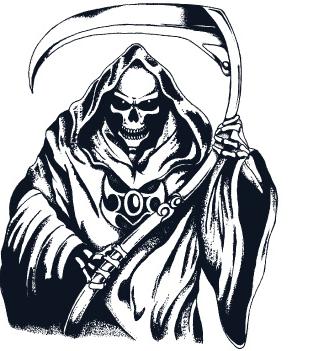 grim reaper design   clipart best