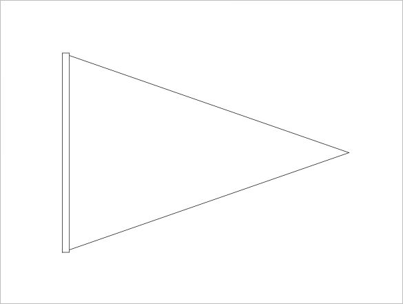 Free triangle banner template