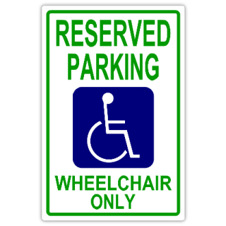 Parking sign template clipart best for Reserved parking signs template
