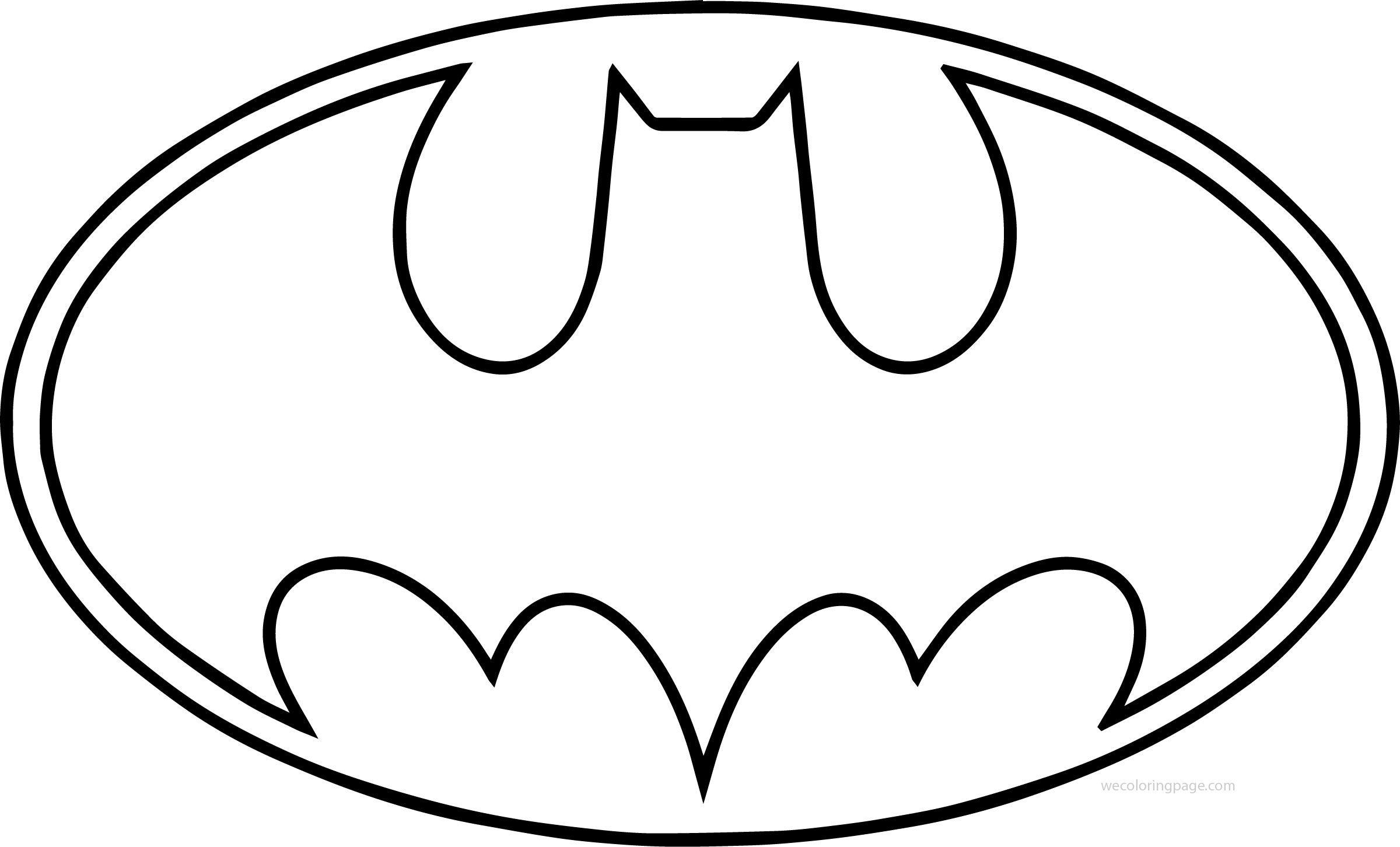 batman symbol coloring pages clipart best