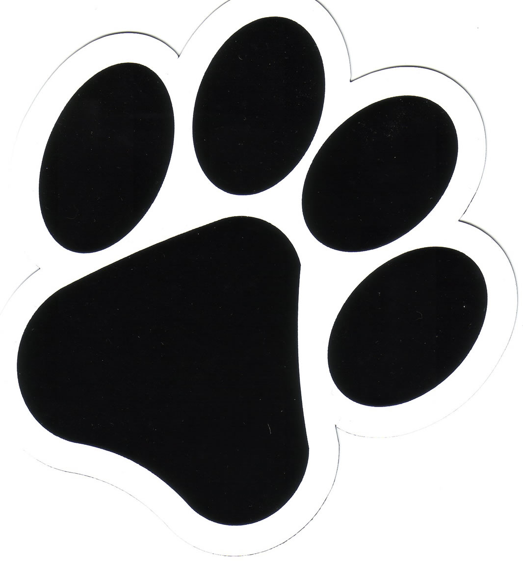 Printable Dog Paw Print Stencil - ClipArt Best