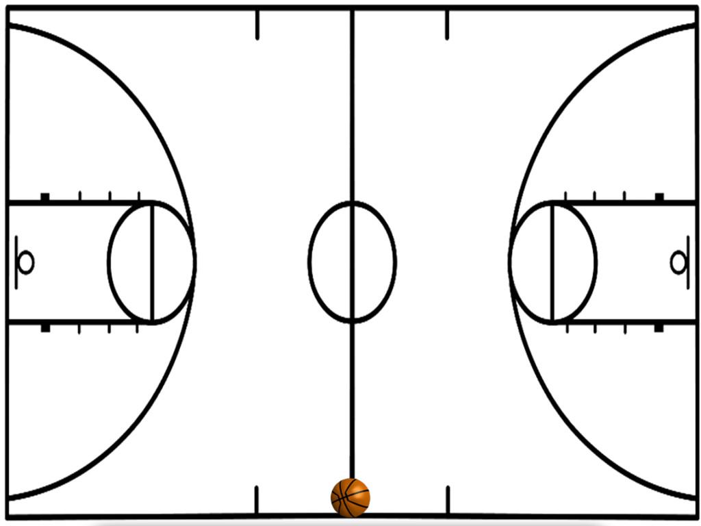 Basketball Half Court Diagrams Printable - ClipArt Best