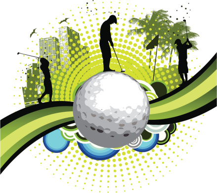 Background Of A Cool Golf Clip Art, Vector Images & Illustrations ...