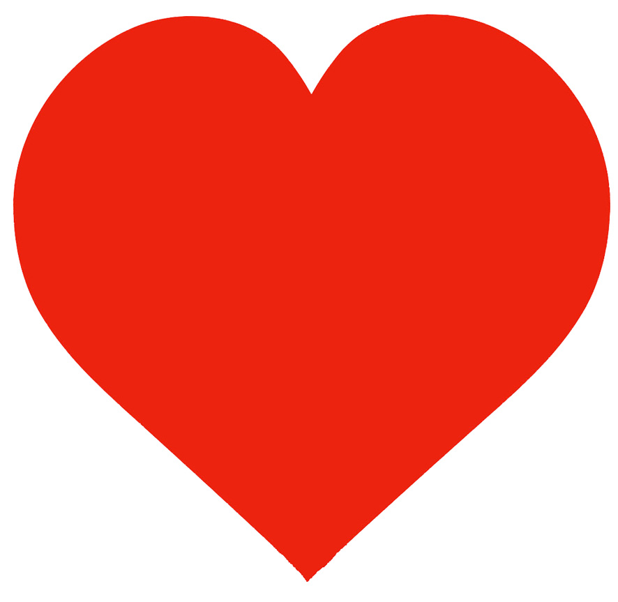 Best Photos Of Large Valentine Heart Template Big Red