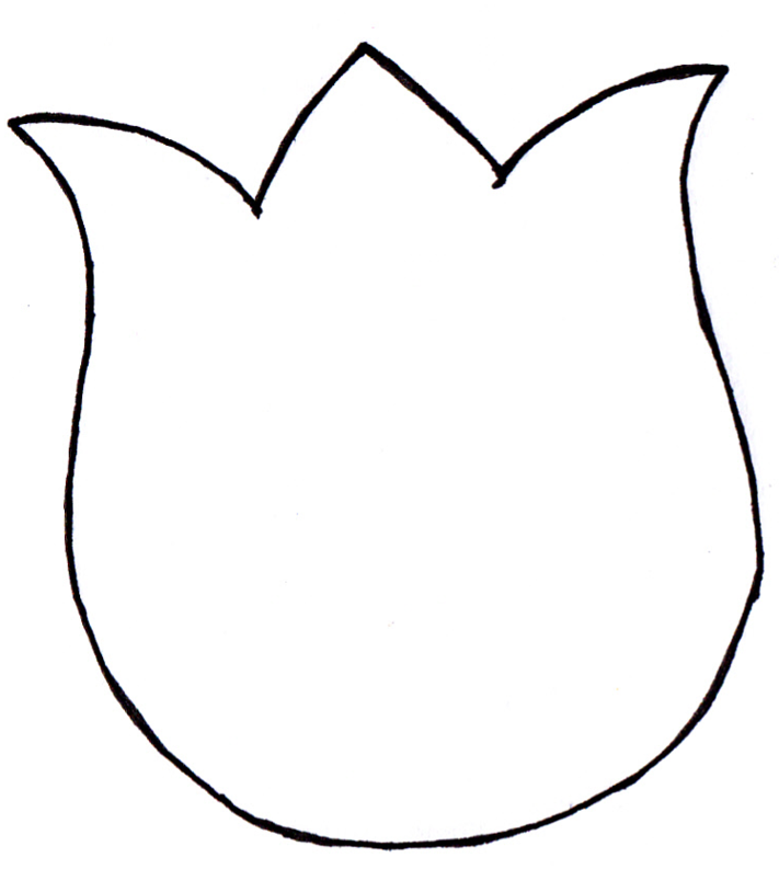 Gallery For > Tulip Petal Template Clipart - Free to use Clip Art ...