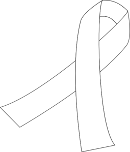 Cancer ribbon coloring pages clipart best for Cancer ribbon coloring page